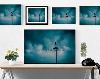 Blue Printable art, minimalist digital download prints, blue clouds photo, minimalist instant download posters, nature print