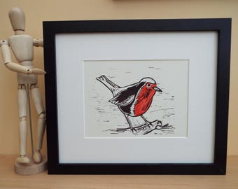 Robin Lino Cut Print, Limited Edition, Signed and numbered