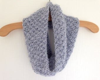 Hand Knitted Blue Chunky Cosy Cowl