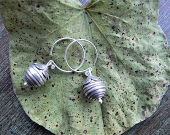 Sterling silver earrings. Silver jewellery. Ethnic Jewellery. Ethnic Silver earrings. Ethnic jewelry. Handmade jewelry.