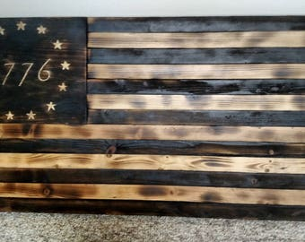Independence Rustic Flag