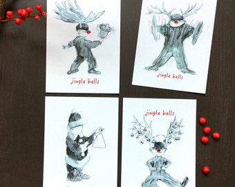 Jingle bells (4 cards)