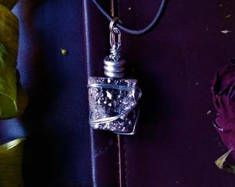 Pyrite cluster wire wrapped necklace