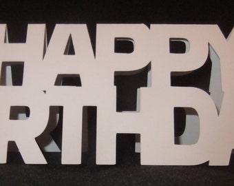 Happy Birthday Shaped Card