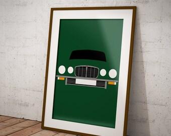Personalised Jaguar XJ6 Print