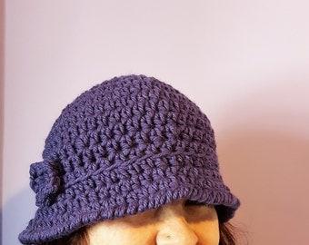 Wool cloche Hat did crochet