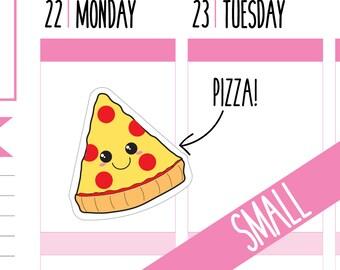 Pizza Planner Stickers, Pizza Night, Pizza Lover, Takeaway, Food Stickers, Cheat Night, Happy Planner Stickers, Erin Condren Stickers, Mini