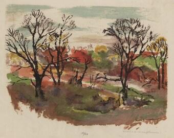 "MARIE R. MACPHERSON (American, 1879-?), ""Forgotten"", ca. 1936-38, serigraph, pencil signed."