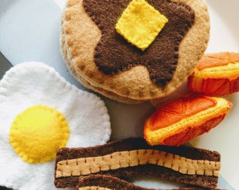 Felt Gourmet Breakfast | Felt Food | Play Food | Play Kitchen Accessories | Gifts for Kids | Handmade Gifts |