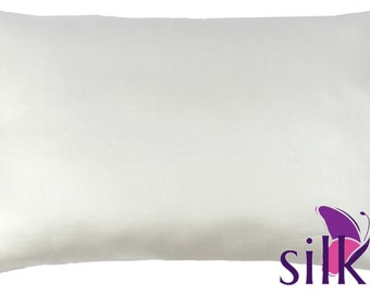 IVORY OFF WHITE 100% Pure Mulberry Silk Pillowcase 19 momme Queen Hair Beauty