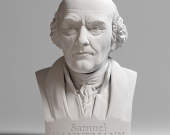 Samuel Hahnemann 35 cm bust - Busts with personality