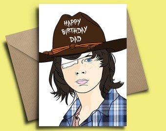 The Walking Dead Carl Grimes Personalised Birthday Card