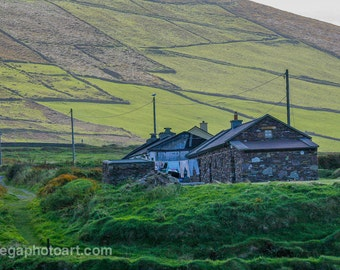 Landscape photography.  Digital file. Instant download. Farm on the Dingle coast of Ireland