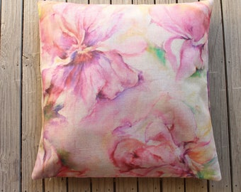 Unique Floral design on linen