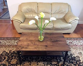 Custom Rustic Hand-Made Walnut Coffee Table
