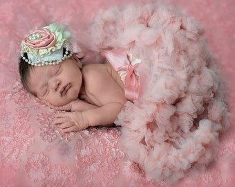 Baby Tutu ONLY, PICK COLOR Newborn Tutu, baby tutu, Peach Pink Baby Tutu, Peach, Pink, Pettiskirt, Tutu, Newborn, baby pettiskirt