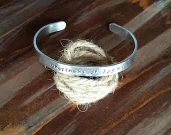 fullness of joy - metal stamped bracelet