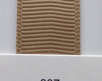 "3/8"" / 10mm Solid Grosgrain Ribbon LATTE #837 X 2 METERS"