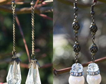 Sylvan Dangle Earrings finished with Sparkling Beads