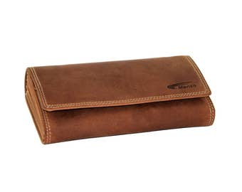 Menzo waiter Exchange waiter pocket, waiter wallet, waiter wallet, taxi, taxi pocket, double stitched, Brown