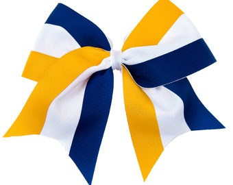3 Color Cheer Bow- ONLY 3.99 Each - Available in 27 Color Combinations-Team Cheer Bows-Cheerleading Hair Bows-Fast Shipping-Made to Last