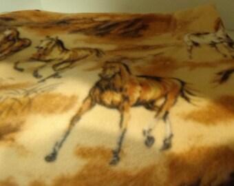 "Horse Fleece Blanket 38"" by 63"""