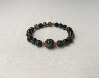 Eyeagate-Orange aventurine Bracelet