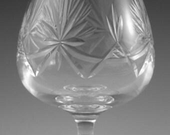 """EDINBURGH Crystal - STAR of EDINBURGH - Brandy Glass / Glasses - 5"""" (2nd)"""