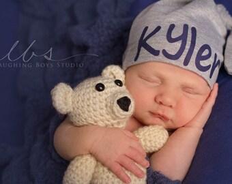 newborn hat . personalized baby hat . baby gift . Newborn gift. beanie hat . hat. coming home . Newborn girl. Shower gift . Newborn boy