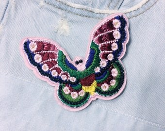 J/butterfly/free shipping sew on embroidery patch