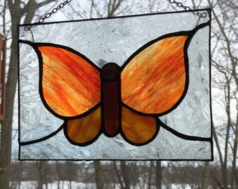 Butterfly, Stained glass, Suncatcher