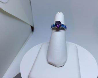 Opal  & Amithest Stone (Free Shipping)