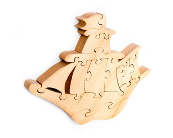 Wooden ship Puzzle,Wooden Puzzle, Logic Toys,Toys,Kids gifts,Wooden Ship,Educational toys,Eco toys,ship,Puzzle,Wooden toys,Waldorf wood toys