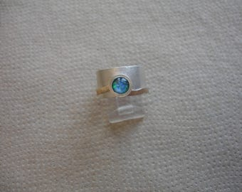 Silver Ring with Opal 3
