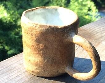 Handmade small mug with big ear - Espresso cup