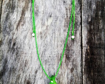 Macrame chain with Shell