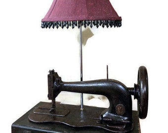 Vintage Sewing Machine Table Lamp. Farmhouse Lamp. Vintage Lamp. Floor Lamp.  Sewing