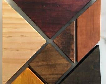 Wooden tanagram puzzle
