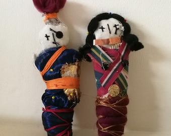 Boy & Girl paired voodoo dolls
