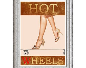 Hot wheels beautiful art print