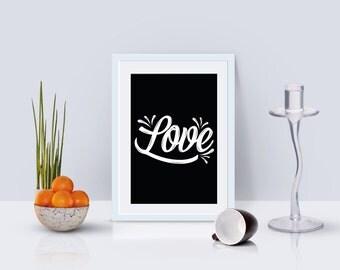 Love/Hand Lettering/Printable Art/Printable Home decor/Download