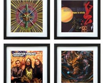 Monster Magnet - Framed Album Art - Set of 4 Images