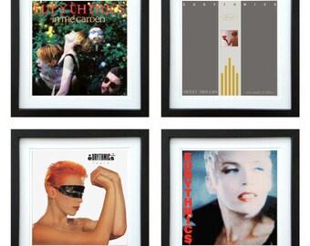 Eurythmics - Framed Album Art - Set of 4 Images
