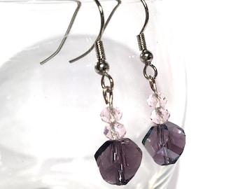 Lila / purple earrings