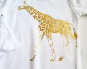 Gold Giraffe Onesie