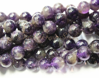 Amethyst Beads, 4mm 5mm 8mm 10mm, Full Strand 15.5 inches, Gemstone Beads, Beading Suppliers, Jewelry Suppliers