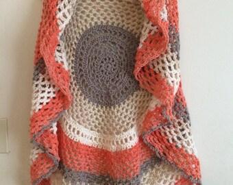 Adult Pocket Full of Posies Boho Style Crochet Vest
