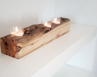 Reclaimed Wood Candle/Succulent Holder