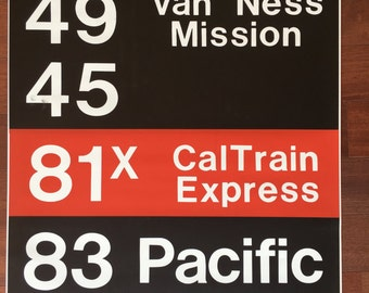 San Francisco MUNI Bus Roll from the 1970s