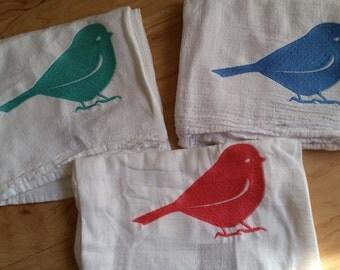 Farmhouse Kitchen Decor - Popular Farmhouse kitchen towel - Hipster Bird unique fun embroider boutique large Flour sack kitchen towel